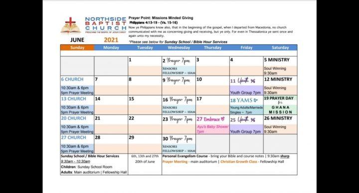 NBC June Calendar